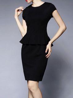 Paneled Cotton/Polyester Mini dress