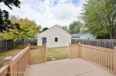 This fenced-in yard is great for worry free outdoor playtime with kids & pets!