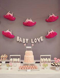adornos y arreglos para baby shower