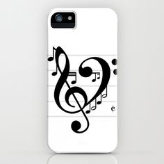 Love Music II iPhone & iPod Case by RichCaspian - $35.00 #iphone #case #cover #love #music #musician #musical #heart #dance #dancing #dancer #sing #singing #singer #song #band #clef #bass #treble #note #notes #piano #iphonecase #iphonecover #blackandwhite #cute #heart #lover