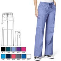 """WonderWink """"Faith"""" Boot Cut Cargo Pant - WonderFlex 