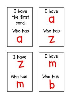 I Have, Who Has ~ Alphabet Edition love this can't wait to play with my class to work on letter recognition.