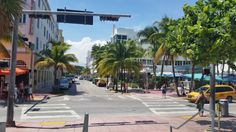 View in Front of Art Deco Welcome Center, Miami Beach FL