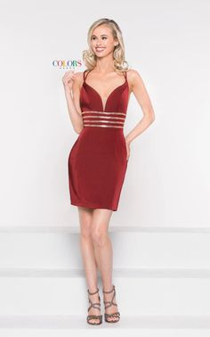 d25062b8f029 Colors Dress 1979 is a spaghetti strap faille cocktail dress with a deep  sweetheart neck and