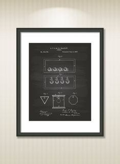 This reproduction was digitally restored and in some cases altered to remove defects or unwanted artifacts present in the original patent document.  Buy more and save! Buy ... #patentart #patentprints #vintage #blueprint #puzzle #game #ball