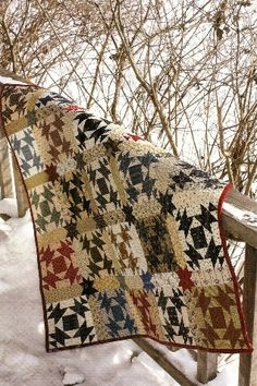 Pattern: Broken Dishes Quilt Pattern by Country Threads Old Quilts, Scrappy Quilts, Small Quilts, Vintage Quilts, Primitive Quilts, Primitive Folk Art, Quilting Designs, Quilting Ideas, Quilting Projects