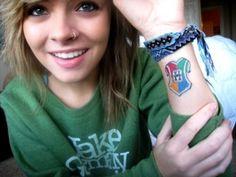 cute hogwarts crest tattoo