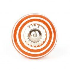 Knauf Streifen orange/weiß