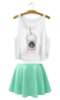 """Starbucks clothes"" by ashleycaldwell614 on Polyvore"