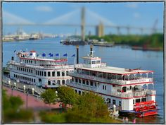Riverboats docked outside the River Street Inn in Savannah, GA * Photo by Paul Ennis