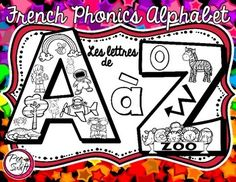 French Phonics Alphabet - Beginning Sounds - printable pages! Perfect for letter… French Learning Games, French Teaching Resources, Teaching French, Teaching Tools, Kids Learning, French Articles, Letter Of The Day, French Kids, Languages Online