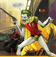 Der Joker als Robin Joker Batman, Joker Arkham, Batwoman, Nightwing, Batgirl, Der Joker, Joker Und Harley Quinn, Comic Book Artists, Comics