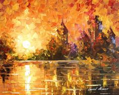 """""""Castle By The River"""" by Leonid Afremov"""