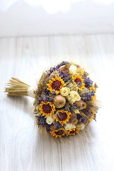 Vintage wedding bouquet of dry flowers, lavender, poppy head and sunflowers Vintage wedding bouquet in close detail , Poppies, Sunflowers, Photography Logos, Dried Flowers, Wedding Bouquets, Photo Editing, Royalty Free Stock Photos, Lavender, Wreaths