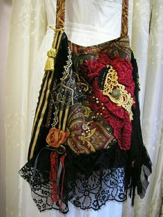 Bohemian Gypsy Bag boho hippie fringe purse black made by Grandma Dede, Bohemian Mode, Bohemian Gypsy, Bohemian Style, Boho Chic, Shabby Chic, Hippie Style, Gypsy Style, Hippie Chic, My Style