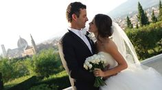 Amazing. Love her dress, hair veil, flowers and rings. And the Groom's suit. <3    #Tammin Sursok