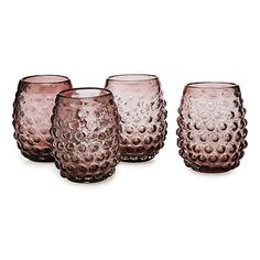 Look what I found at UncommonGoods: Hobnail Wine Glasses - Set of 4 for $38 #uncommongoods