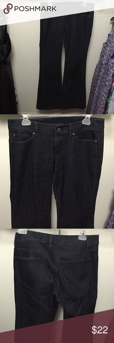 Ann Taylor jeans Modern Fit dark wash denim jeans.  Have some stretch to them for a very comfortable fit.  Slightly flared bottoms.  Great for dressing up with a fun top and a pair of heels! Ann Taylor Jeans