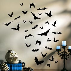 Totally Ghoul Bats Wall Art Decoration Easy Perfect For A