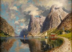 Adelsteen Normann - Summer on the Fjord