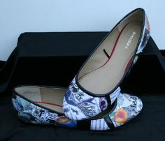 "handmade shoes based on T.S. Eliot's poem ""The Love Song of J. Alfred Prufrock"