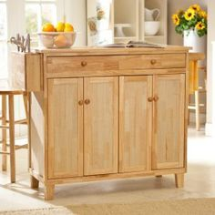 Belham Living Vinton Stationary Kitchen Island with Optional Stools - Kitchen Islands and Carts at Hayneedle