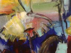 Paardebloem, ( detail ) acryl Diana Mol