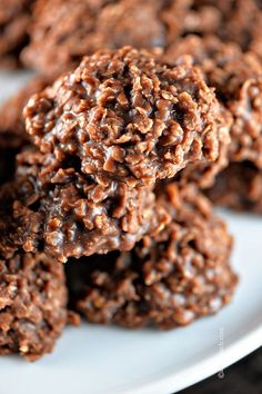Chocolate No Bake Cookies | This cookie brings back so many memories of child hood! Love it's simple, delicious goodness! Ready in a snap! from ©addapinch.com