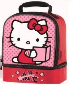 2d01acf39 Hello Kitty lunch bag. Lancheira, Melhor Lancheira Infantil, Lancheira  Escolar, Lancheiras,