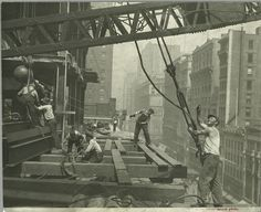 Building the Empire State Building Lewis W. Hine/New York Public Library