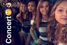When I was with valerie madi and mikayla at a concert