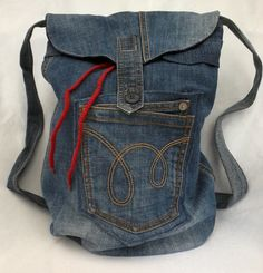 my denim rucksack from old jeans