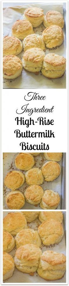 Low Carb Recipes To The Prism Weight Reduction Program Three Ingredient High Rise Buttermilk Biscuits Video Tutorial. High And Flaky Buttermilk Biscuits. Brunch Recipes, Bread Recipes, Breakfast Recipes, Cooking Recipes, Scone Recipes, Bakery Recipes, Breakfast Items, Cooking Ideas, Food Ideas