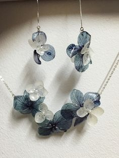 Handmade jewelry plant glue of jewelry hydrangea
