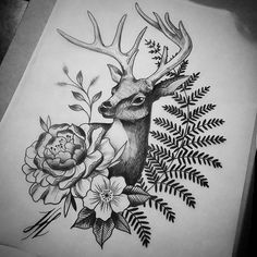 Tattoos Love Birthstones And Their Meanings There are a lot of legends and lore surrounding the prac Tattoos, Future Tattoos, Deer Tattoo Designs, Sleeve Tattoos, Tattoo Drawings, Animal Tattoo, Stag Tattoo, Deer Tattoo, Tattoo Designs