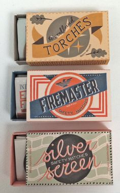 Vintage matchbox design | Ruby Taylor Illustration