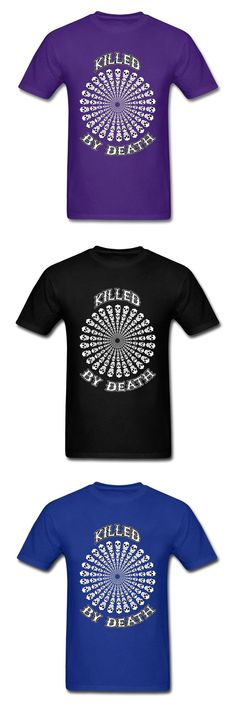 Killed By Death Skull Boys T Shirt Create Design Mens Own Dress T-Shirt Online Black Skull Logo Tops Men's Metal Band Tops Tees