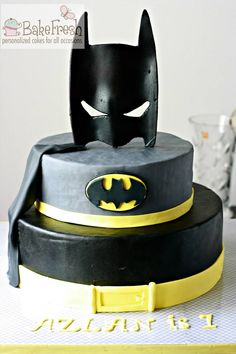 Batman theme cake - chocolate heaven!!