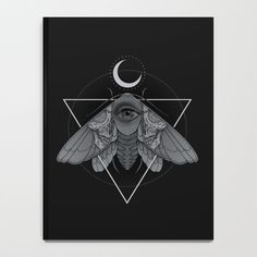 Occult Moth Notebook ($16) ❤ liked on Polyvore featuring home, home decor and stationery