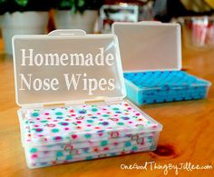 """Your Own Homemade Wipes For Little Noses Homemade """"Boogie Wipes"""". A use for those receiving blankets that didn't become cloth diaper wipes :)Homemade """"Boogie Wipes"""". A use for those receiving blankets that didn't become cloth diaper wipes :) Make Your Own, Make It Yourself, How To Make, Homemade Wipes, Homemade Baby Gifts, Diy Bebe, Receiving Blankets, Baby Blankets, Fleece Blankets"""