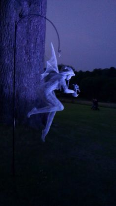Chicken wire sculpture. Fairy at Grange Opera, Hampshire
