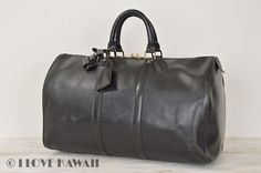 Louis Vuitton Black Epi Keepall 45 Travel Bag M59152
