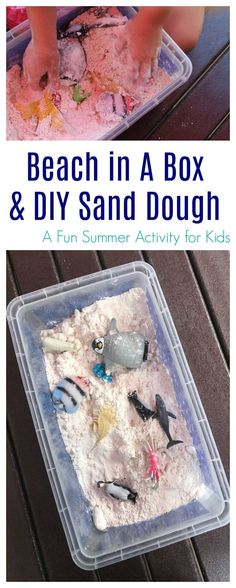 Summer Activity for Kids: Beach in A Box - The Chirping Moms Autism Activities, Sensory Activities, Infant Activities, Kindergarten Sensory, Preschool Class, Group Activities, Summer Activities For Kids, Summer Kids, Diy For Kids