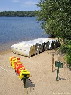 Camp Three Point Waterfront at Camp #Yawgoog in Rockville, Hopkinton, Rhode Island (RI).  A 2014 image by David R. Brierley.