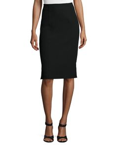 Textured Pencil Skirt, Size: 2, Black - Nanette Lepore