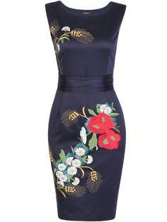 Shop Mini Dresses - Elegant Sleeveless Embroidered Mini Dress online. Discover unique designers fashion at StyleWe.com.