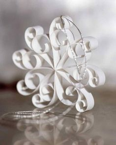 38 Handmade Christmas Ornaments - 3D Doily Ornaments