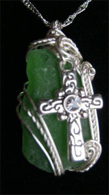 Andrea Healey,  Erie Shore Treasures,  Erie Shore Memorial Jewelry,  fantastic wire wrapped jewelry utilizing sea glass.