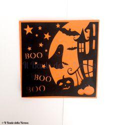 """Halloween - BIGLIETTO HALLOWEEN """"CASA STREGATA"""" (art. 99) - un prodotto unico di IlBauledellaNonna su DaWanda"""