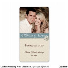Custom Wedding Wine Label Add Your  Photo will venues let u cover the wine labels?